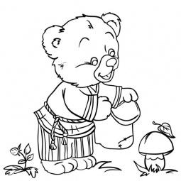 Купить Роспись по холсту Color Puppy «Медвежонок» 63989