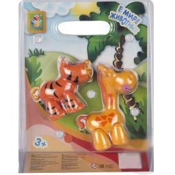 фото Набор фигурок 1 Toy «Жираф и тигр»
