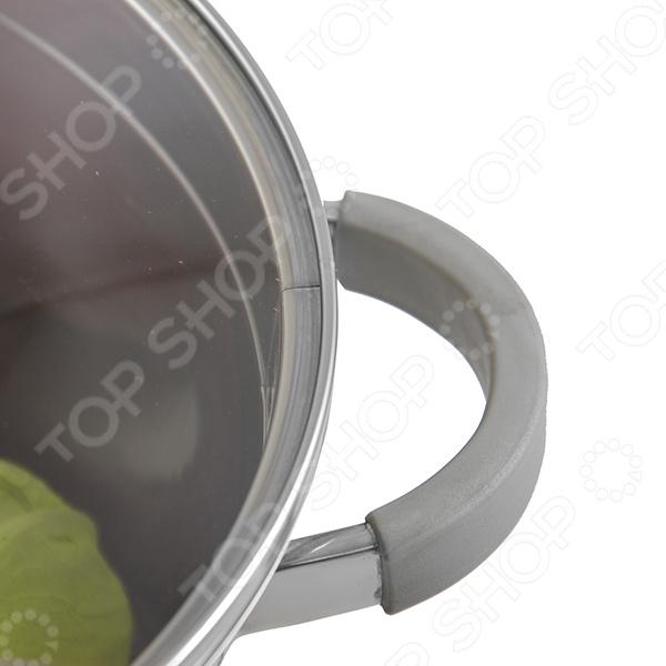Кастрюля Rondell Favory RDS-742 5.6л 24см стеклянная крышка нержавеющая сталь серебристый