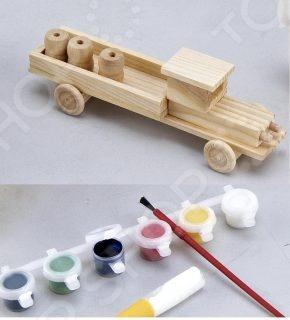 Набор для моделирования Mapacha Грузовик с красками замечательный набор в виде небольшой мастерской, где есть все необходимое для моделирования грузовика. Сборная модель грузовика позволит развить логическое мышление, аккуратность и внимательность. Готовую собранную модель можно будет раскрасить различными цветами. Краски, кисточка и клей входят в комплект. Сборная модель грузовика станет прекрасным подарком для ребенка.