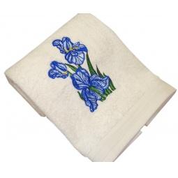 фото Полотенце подарочное с вышивкой TAC Iris. Цвет: бежевый