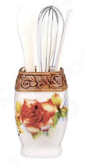 Набор кухонных принадлежностей Коралл «Розы» набор бокалов для бренди коралл 40600 q8105 400 анжела