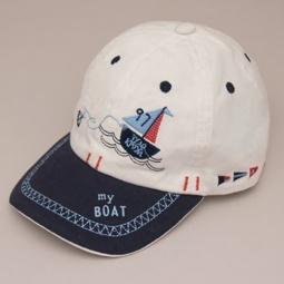 Купить Бейсболка для мальчика ЧУДО-КРОХА «My boat». Цвет: белый, темно-синий