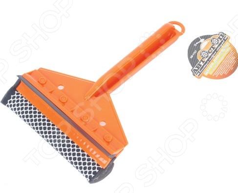 Щетка для мойки с губкой и сгоном для воды Автостоп AB-1707 щетка для мытья автомобиля с подачей воды stels 55222