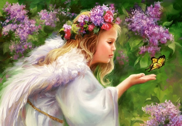 Пазл 1000 элементов Castorland «Бабочка и ангел»