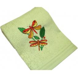 фото Полотенце подарочное с вышивкой TAC Dragonfly. Цвет: зеленый