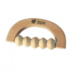 фото Массажер деревянный Банные штучки универсальный. Размер: 14,5х8 см