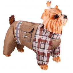 Купить Комбинезон-дождевик для собак DEZZIE «Мопс». Цвет: бежевый
