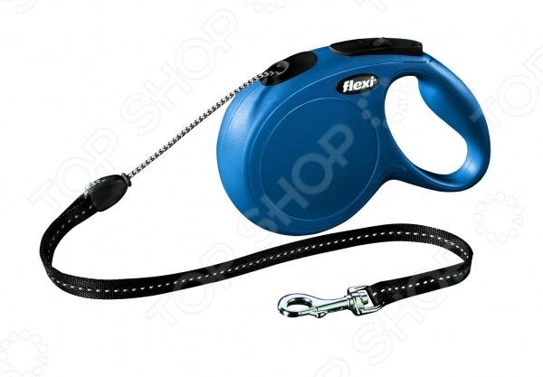 Поводок-рулетка Flexi New Classic М. Цвет: синий поводки triol поводок рулетка