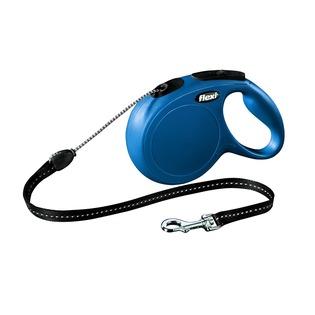 Купить Поводок-рулетка Flexi New Classic М. Цвет: синий