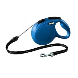 фото Поводок-рулетка Flexi New Classic М. Цвет: синий. Длина поводка: 5 м