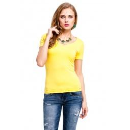 фото Футболка Mondigo 056. Цвет: желтый. Размер одежды: 42