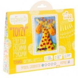 фото Набор для создания картины из шерсти mySweeBe «Жирафы»