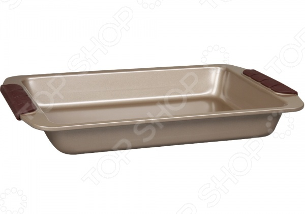 Форма для запекания металлическая POMIDORO Q3312Металлические формы для выпечки и запекания<br>Форма для запекания металлическая POMIDORO Q3312 - качественная и удобная модель, которая обязательно понравиться каждой современной хозяйке. Форма прекрасно подходит для приготовления любой выпечки, запеканок и прочих лакомств. Благодаря тому, что форма изготовлена из стали, обеспечивается равномерное пропекание и подрумянивание выпечки. Модель оснащена антипригарными свойствами, поэтому извлечь готовый продукт из формы не составит особого труда. Прочная и долговечная форма для выпекания, не деформируется под воздействием температуры, легко моется. Ручки c силиконовыми вставками коричневого цвета обеспечивают дополнительный комфорт во время готовки.<br>
