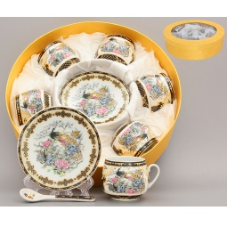Купить Кофейный набор Elan Gallery «Павлин на золоте»