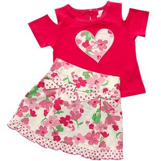 Купить Комплект: футболка и юбка WWW Pink ribbon. Цвет: розовый