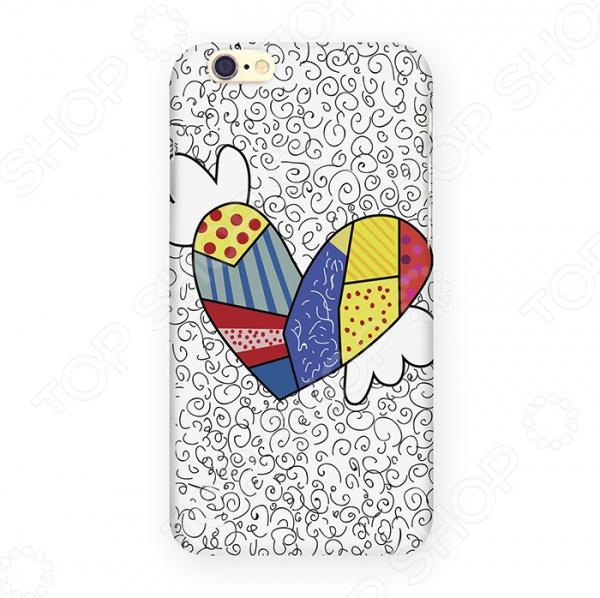 Чехол для iPhone 6 Mitya Veselkov «Цветное сердце с крыльями» стоимость