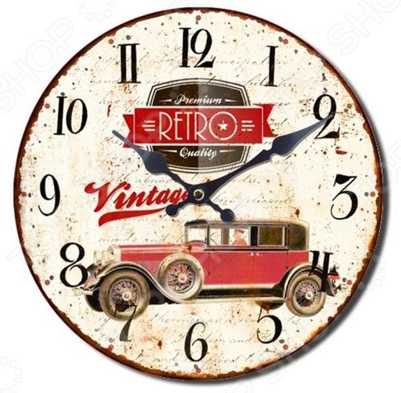 Часы настенные Mitya Veselkov «Винтажное авто-1»Часы настенные<br>Часы настенные Mitya Veselkov Винтажное авто-1 это не просто милая деталь интерьера, но и самая необходимая вещь для планирования дня! Представить свою жизнь без часов - невозможно, особенно в современном мире, где на счету каждая минута, поэтому настенные часы станут не только красивым но и полезным украшением. Настенные часы помогут подчеркнуть индивидуальность вашего интерьера, вы можете подобрать подходящую модель для каждой комнаты. Кварцевый механизм очень надёжен, а сами материалы из которых изготовлены часы отличаются повышенной износостойкостью.<br>