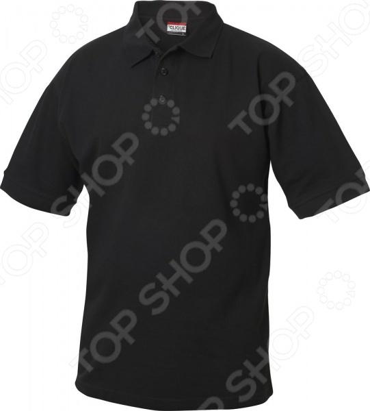Рубашка-поло Clique «Линкольн». Цвет: черныйФутболки<br>Рубашка-поло Clique Линкольн станет неотъемлемой частью вашего летнего гардероба. Модель универсальна, прекрасно подходит для повседневного ношения и хорошо сочетается как с джинсами и брюками-чинос, так и с шортами. Рубашка имеет классический крой, снабжена отложным воротником с застежкой на пуговицы, боковыми разрезами и широкими трикотажными манжетами. Модель отличается стильным дизайном и великолепным качеством пошива. Изделие выполнено из натурального хлопка, отлично зарекомендовавшего себя в пошиве одежды, благодаря воздухопроницаемости, прочности и устойчивости к истиранию.<br>