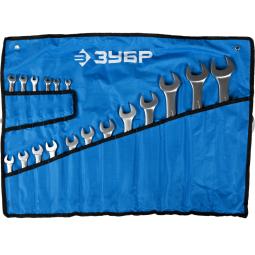 фото Набор ключей комбинированных Зубр «Профи» 27022-H18