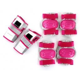 фото Комплект защиты для роликовых коньков X-MATCH Pink. Размер: S