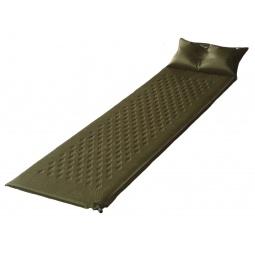 фото Коврик туристический самонадувающийся с подушкой Larsen Camp HT006. Толщина: 3 см