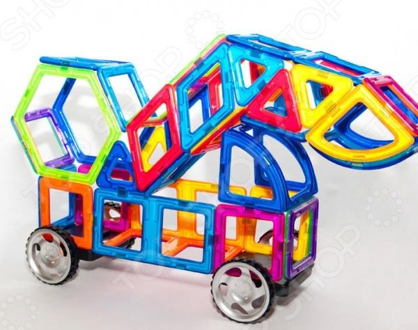 Конструктор магнитный МагМастер «Джип Механик»Магнитные конструкторы<br>Конструктор магнитный МагМастер Джип Механик это интересная и занимательная игрушка, которая представляет собой конструктор для подросших детей. Игрушка развивает детскую фантазию, воображение и пространственное мышление. Она состоит из множества оригинальных деталей, которые могут быть собраны в обозначенную фигурку. Детали изготовлены из высококачественного пластика и металла. Свойства магнитов притягиваться и отталкиваться обязательно понравится детям. Кроме того, им наверняка понравится возможность строить большие конструкции с применением этих деталей.<br>