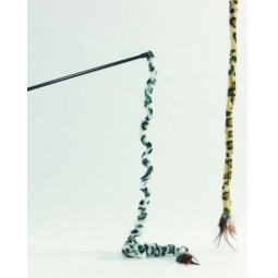 фото Игрушка для кошек Beeztees «Удочка с хвостом сафари». В ассортименте