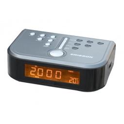 фото Радиочасы c термометром ERISSON RC-2206A. Цвет: серый