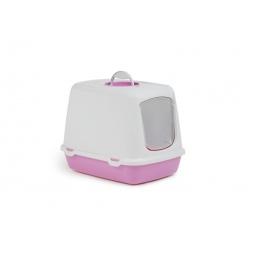 фото Домик-туалет для кошек Beeztees Oscar. Цвет: розовый