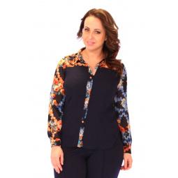 Блуза Salvi «Дамское счастье». Цвет: синий