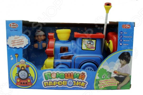Игрушка радиоуправляемая PlaySmart «Поющий паровозик» таис игрушка каталка паровозик