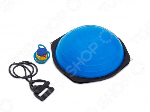 Полусфера гимнастическая Iron Body BOSU BS02BАксессуары для фитнеса<br>Полусфера BOSU BS02B предназначена для гимнастических тренировок. Отлично подойдет для разминки мышц позвоночника и их укрепления за счет упражнений в наиболее удобном для этого положении. Легко надувается с помощью насоса. Диаметр сферы 58 см. В комплекте идет насос.<br>