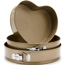 фото Набор форм для выпечки Mayer&Boch MB «Сердце и круг». Цвет: золотистый