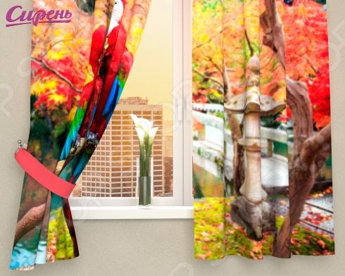 Фотошторы Сирень «Попугаи в Японии»Фотошторы<br>Фотошторы Сирень Попугаи в Японии это яркие шторы, которые помогут преобразить интерьер вашего дома! Вне зависимости от того, в какой комнате вы решили разбавить скучный дизайн, эти шторы изменят его до неузнаваемости. Даже если вы не хотите полностью изменять дизайн всей комнаты, то попробуйте добавить яркий акцент в виде штор. В производстве фотоштор используется высококачественный полиэстер, благодаря новым технологиям и краскам, которые не выгорают на солнце, эти шторы будут радовать вас долгие годы. Крепление происходит на шторную ленту под крючки. Стирать необходимо при температуре 30 градусов, после чего можно погладить, но при температуре не более 150 градусов.<br>