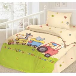 фото Детский комплект постельного белья Облачко «На ферме»