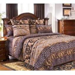 фото Комплект постельного белья Белиссимо «Корнет». 2-спальный. Цвет: коричневый
