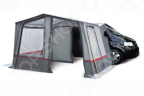 Палатка High Peak TrampПалатки<br>Палатка High Peak Siskin это прекрасный выбор для любителей активного отдыха, турпоходов и пикников на природе. Она станет отличным дополнением к набору ваших туристических принадлежностей и поможет сделать отдых максимально комфортным. Палатка рассчитана на совместное использование с микроавтобусами. Она позволяет значительно расширить защищенное пространство и может использоваться в качестве кухни, летней столовой или веранды. Тент палатки выполнен из водонепроницаемого полиэстера, а каркас из высокопрочной стали. Модель снабжена боковым и торцевым входами, вентиляционными окнами и проклеенными швами.<br>