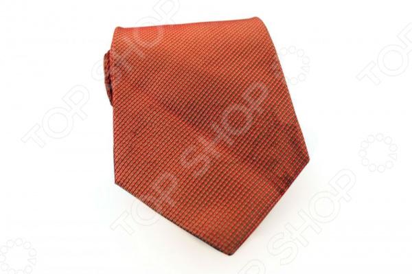 Галстук Mondigo 44425Галстуки. Бабочки. Воротнички<br>Галстук Mondigo 44425 - стильный шелковый галстук, который является одной из важнейших и незаменимых деталей в гардеробе каждого мужчины. Правильно подобранный галстук позволяет эффектно выделить выбранный вами стиль, подчеркнуть изысканность и уникальность его владельца. Оригинальный галстук ручной работы выполнен из натурального 100 шелка красивого терракотового цвета и оформлен фактурным рисунком в диагональную полоску. Обратная сторона изделия прострочена специальной шелковой ниткой, которая позволяет регулировать длину изделия. Этот стильный галстук эффектно дополнит любой деловой костюм и будет уместен как в офисе, так и на торжественных мероприятиях. Ширина у основания - 8,5 см.<br>