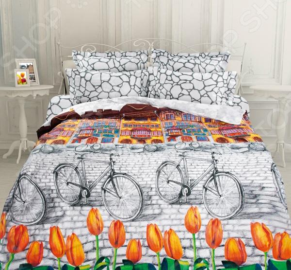 Комплект постельного белья Унисон «Голландский уголок». ЕвроЕвро<br>Комплект постельного белья Унисон Голландский уголок это незаменимый элемент вашей спальни. Человек треть своей жизни проводит в постели, и от ощущений, которые вы испытываете при прикосновении к простыням или наволочкам, многое зависит. Чтобы сон всегда был комфортным, а пробуждение приятным, мы предлагаем вам этот комплект постельного белья. Приятный цвет и высокое качество комплекта гарантирует, что атмосфера вашей спальни наполнится теплотой и уютом, а вы испытаете множество сладких мгновений спокойного сна. Торговая марка Унисон позволяет преобразить интерьер любой спальни, вдохнуть в него новые краски и эмоции, повысить уровень комфорта вашего сна. Настоящее произведение искусства: такое постельное белье зачаровывает, вызывает восхищение и восторг.<br>