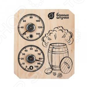 Термометр с гигрометром для бани и сауны Банные штучки «Пар и жар» рукавица для бани и сауны банные штучки 33262