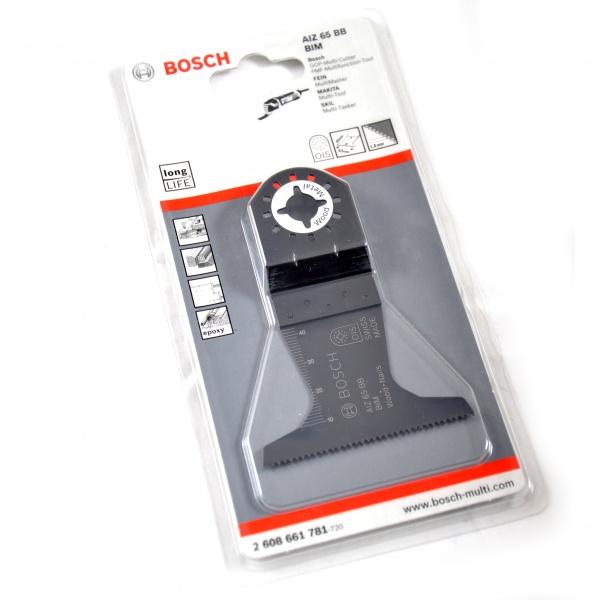 Диск для погружной пилы Bosch BIM AIZ 65 BBНасадки для многофункциональных инструментов<br>Диск для погружной пилы Bosch BIM AIZ 65 BB это отличный диск для погружной пилы, он применяется для пиления древесины с гвоздями. Отлично подходит для подрезания косяка дверной рамы у пола, подрезания столярных и ламинированных плит, а так же для врезного пиления в плитах с покрытием. Ширина 65 мм.<br>