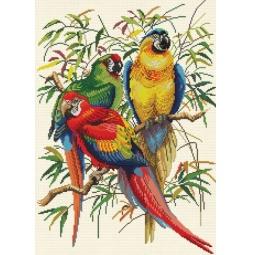 фото Набор для живописи Белоснежка «Тропические попугаи»