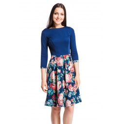 фото Платье Mondigo 5161. Цвет: темно-синий. Размер одежды: 44