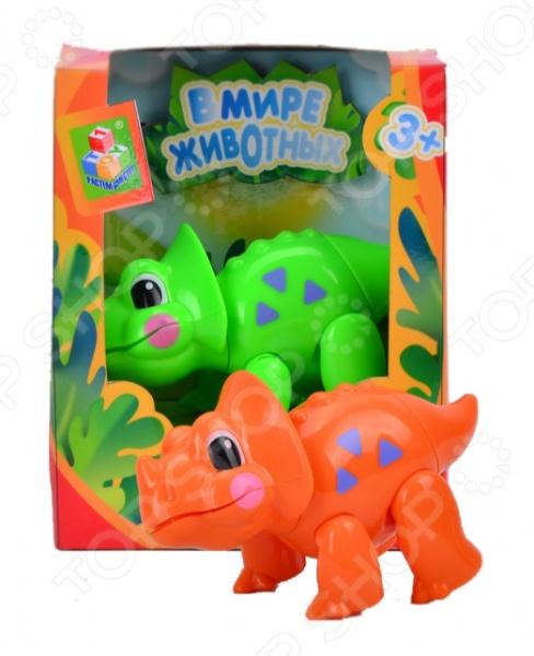 Фигурка 1 Toy «Динозавр»Игрушечные животные<br>Фигурка 1 Toy Динозавр замечательный подарок для любознательного ребенка, займет достойное место на полке игрушек в детской комнате. Игрушка отличается ярким видом, поэтому игра с ней будет интересной, поможет вашему ребенку познакомиться с миром животных, выучить их названия, ознакомиться с их внешним видом. Игрушка выполнена из качественных материалов, безопасных для здоровья ребенка. Игрушка идеально подойдет для детей от 3 лет.<br>