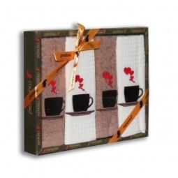 фото Комплект из 4-х кухонных полотенец Mariposa Coffee