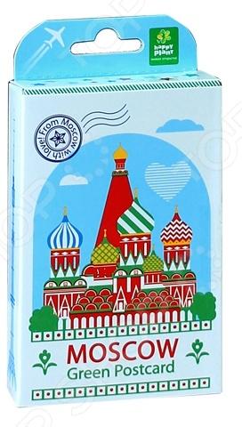 Набор подарочный для выращивания Happy Plant «Живая открытка: Москва №1» набор подарочный для выращивания happy plant живая открытка москва 2