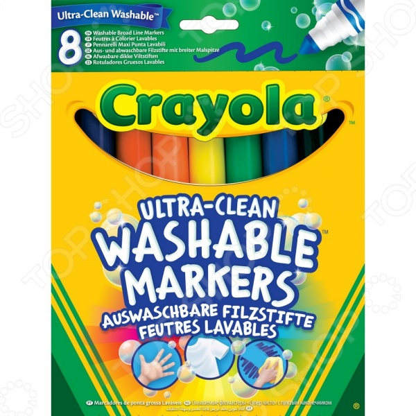 Фломастеры смываемые Crayola 58-8328 фломастеры crayola 12 цветов 58 8329