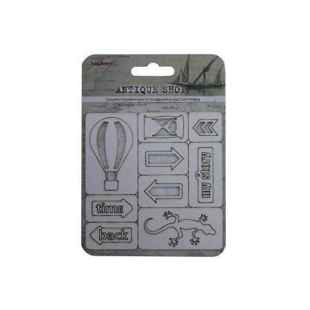Купить Вырубки из чипборда ScrapBerry's «Лавка древностей» №3