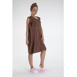 фото Халат-полотенце Bradex «С легким паром!». Цвет: шоколадный